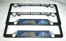 TWO  MILWAUKEE BREWERS LICENSE PLATE FRAMES #8b - New