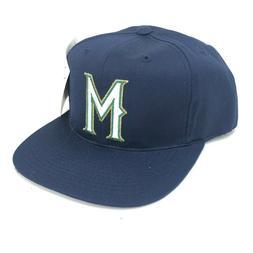 vintage milwaukee brewers adult snapback hat blue